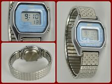 Vtg ADEC Silver Tone Women's Digital Watch Day Date Lap Timer Light Model  9258