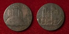 GREAT BRITAIN 1795 CONDER TOKEN YORKSHIRE YORK CLIFFORD'S TOWER CATHEDRAL D&H 63