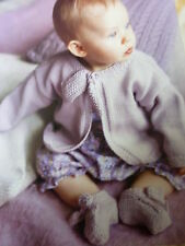 Debbie Bliss Knitting Pattern For Baby's  D.K  Cardigan & Boots-Sizes 3-12mths