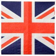 20pk 3ply Union Jack napkins, serviettes, Great British, patriotic,street party