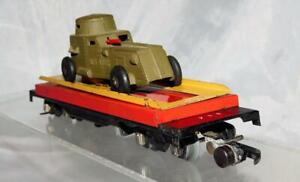 American Flyer 715 Unloading car w/solid green Tootsietoy ARMY Armoured car S