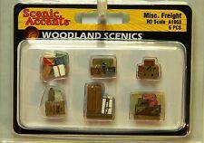 NIB HO Woodland Scenics A1953 Miscellaneous Freight 6 Pcs