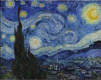 "Vincent Van Gogh Oil painting on canvas Impressionist art Starry Night 28x36"""