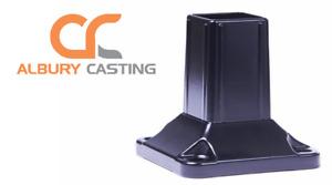 50x50 Aluminium 4 Hole Black Post Base