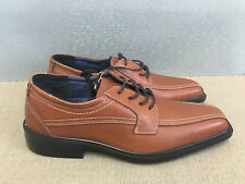 BNWT Mens Size 11 Albstadt Premium Brown Tan Leather Lace up casual dress shoes