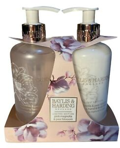 BAYLIS & HARDING Pink Magnolia & Pear Blossom Hand Body lotion & Hand Wash 300ml