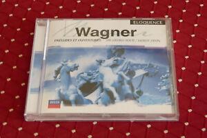 """CD WAGNER """"PRÉLUDES & OUVERTURES"""" VIENNE SIR G. SOLTI & H. STEIN / DECCA TB ÉTAT"""