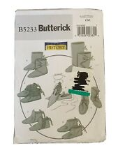 Butterick  5233 Historical Footwear Booties Slippers Costume One Size Uncut