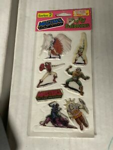 Masters of the Universe Puffy stickers sealed 1982 He-man