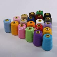 8000 Yards Industrial Overlock Sewing Machine Polyester Thread Sewing 20/color