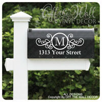 Includes 2 Vinyl Mailbox Lettering Decoration Decal Sticker, #D22