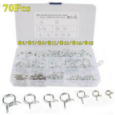 Φ5-Φ18 Stainless Steel Spring Tube Clamp Kit Car Double Wire Fuel Line Hose Clip