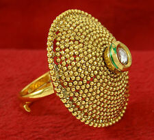 Indian Bollywood Gorgeous Goldtone Adjustable Ring Women Traditional Jewelry