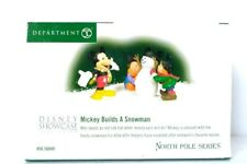 Dept 56 North Pole Series 2003 MICKEY BUILDS A SNOWMAN 56849 Retired 2009