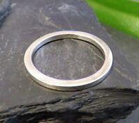Schöner 925 Silber Ring Schlicht Unisex Dünn Herren Damen Elegant Top Platt