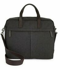 Fossil Buckner Work Bag Laptop Sleeve Canvas Black 15 inch NEW