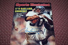 OAKLAND RAIDERS MARK VAN EEGHEN SIGNED SI COVER 8X10 PHOTO