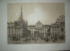 PALAIS DE JUSTICE Bd SEBASTOPOL PARIS litho Charpentier dessin Benoist 1850