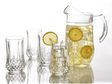 Glass Pitcher Set With 4 Tumbler - Glass 5 pcs Drinkware Set