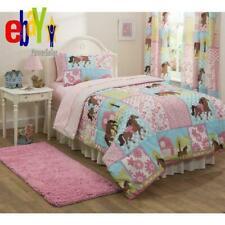 New Full Horse Bed in a Bag Set Bedding Sheet Comforter Pillowcase Sham Girl Kid