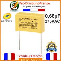 Condensateur MKP 0.68µF 275VAC 680nF 0.68MF 0.68uF X2 AC275V 275V Polypropylène