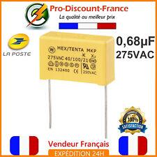 Condensateur MKT 0.68µF 275VAC 680nF 0.68MF 0.68uF X2 AC275V 275V Polypropylène