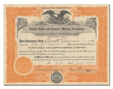 New listing United Gold and Copper Mining Company Stock Certificate