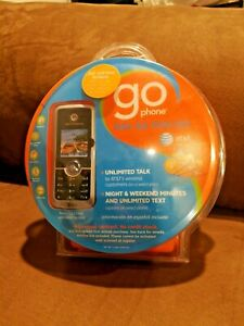 GoPhone Prepaid Motorola C series C168i - Silver AT&T Unopened