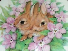 Lovely Rabbit Collectors Plate Unknown Maker