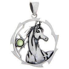 Horse Sacred Animal Pendant w/Assorted Stone