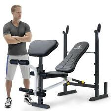 Marcy Folding Mwb-20100 Standard Weight Bench With Rack Black One Size