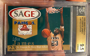 2002 Sage Pangos Lebron James Rookie XRC #1 Gem Mint 9.5 BGS 10 Sub Beckett
