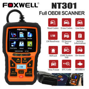 FOXWELL NT301 Car OBD2 EOBD Scanner Auto Code Reader Engine Diagnostic Scan Tool