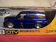 Jada Cadillac Escalade SUV  NIB  2003  production 1/18 scale candy blue/purple
