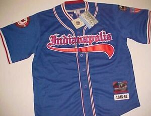 PNLPA #20 Indianapolis Clowns Negro Leagues Blue 1946-62 Throwback Jersey XL New