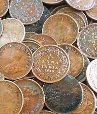 100 Coins LOT - British India - 1/12 Anna - George V 1912-1936 Bronze – 1.65 g –
