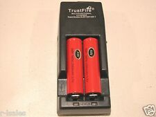 2 AW IMR 18650 Li-Mn 2000maH HIGH DRAIN Battery 3.7v w/ TRUSTFIRE TR-001 CHARGER