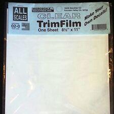 "Decal Paper Microscale Clear Trim Film Water-Slide 8.5"" x 11"" (10 Pack) 02-0"