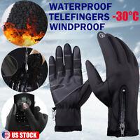 Women Men Winter Warm Fleece Gloves Windproof Thermal Glove Touch Screen Mittens