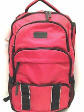 CALVIN KLEIN Backpack Travel Laptop Bag CK Multi Zip Red Shoulder Bag New