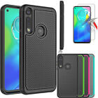 For Motorola Moto G Power Shockproof Case Cover Tempered Glass Screen Protector