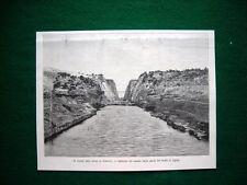Taglio Istmo di Corinto nel 1893 - Imbocco canale dalla parte del Golfo Egina