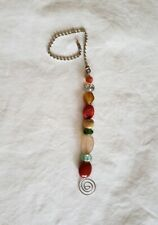 """13"""" Handcrafted colorful Beaded Crystal Glass Ceiling Fan Light Pull Chain"""
