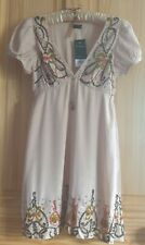 BNWT Miss Selfridge Vintage Beaded and Embroidered Dress Size 10