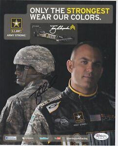TONY SCHUMACHER SIGNED US ARMY 8X10 PHOTO NHRA AUTOGRAPH JSA STAMP OF APPROVAL