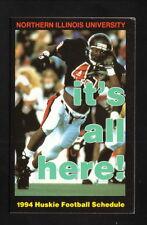 Northern Illinois Huskies--1994 Football Pocket Schedule--Pizza Hut
