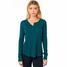 Fox Womens Gorman Thermal L/S Tee Shirt Jade S New