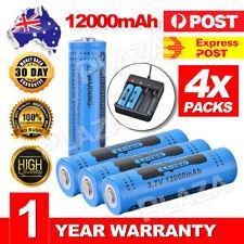 4Pcs Genuine GTL 18650 Battery 3.7V Rechargeable Li-ion 12000mAh Blue RC994