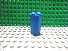 Lego 1 Blue round octagonal 2x2x3 straight brick block