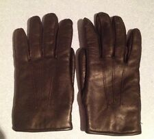 Vintage Ladies Black Leather Gloves/Small/1970's/80's/Retro/Driving/Winter/Smart
